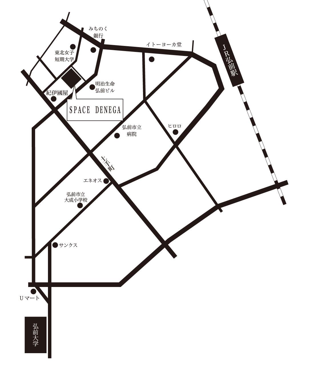 卒展DM 地図