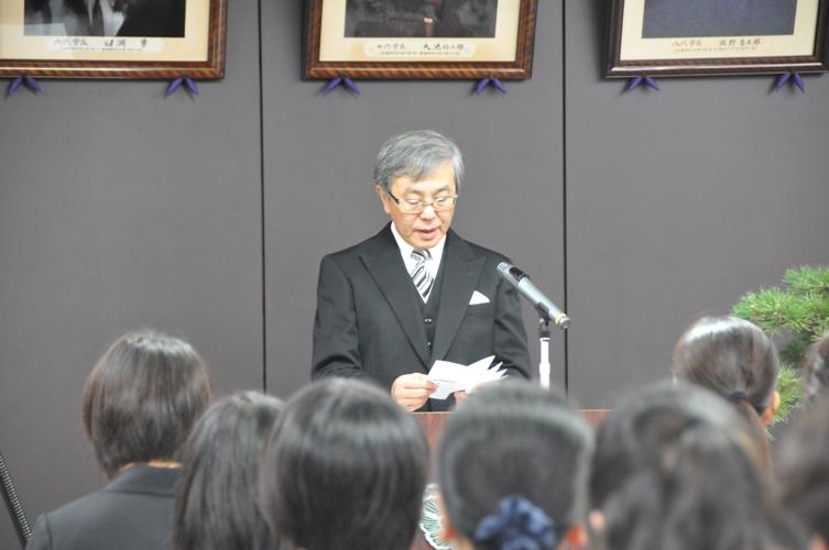 平成26年度秋季学位記授与式告辞(平成26年9月30日)