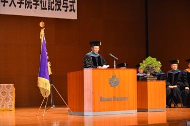 平成24年度大学院学位記授与式(平成25年3月22日)