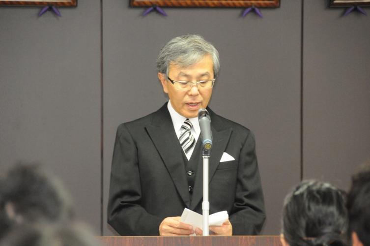 平成25年度秋季学位記授与式告辞(平成25年9月30日)
