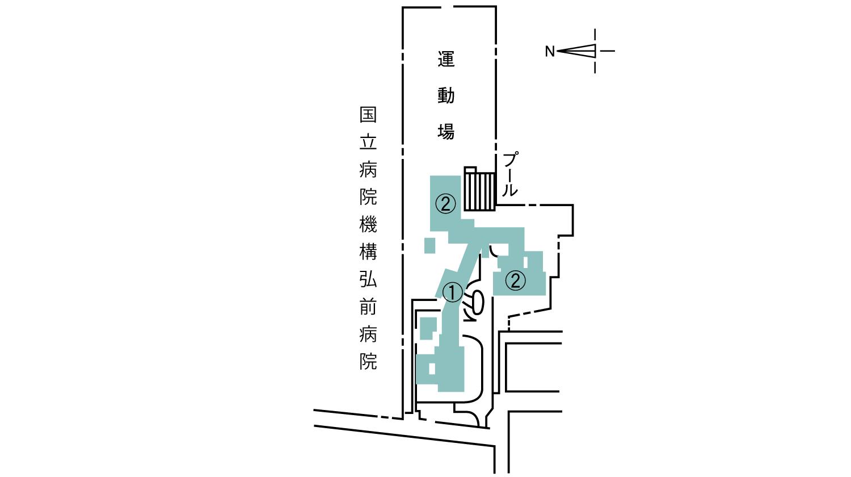キャンパス案内(富野町地区)