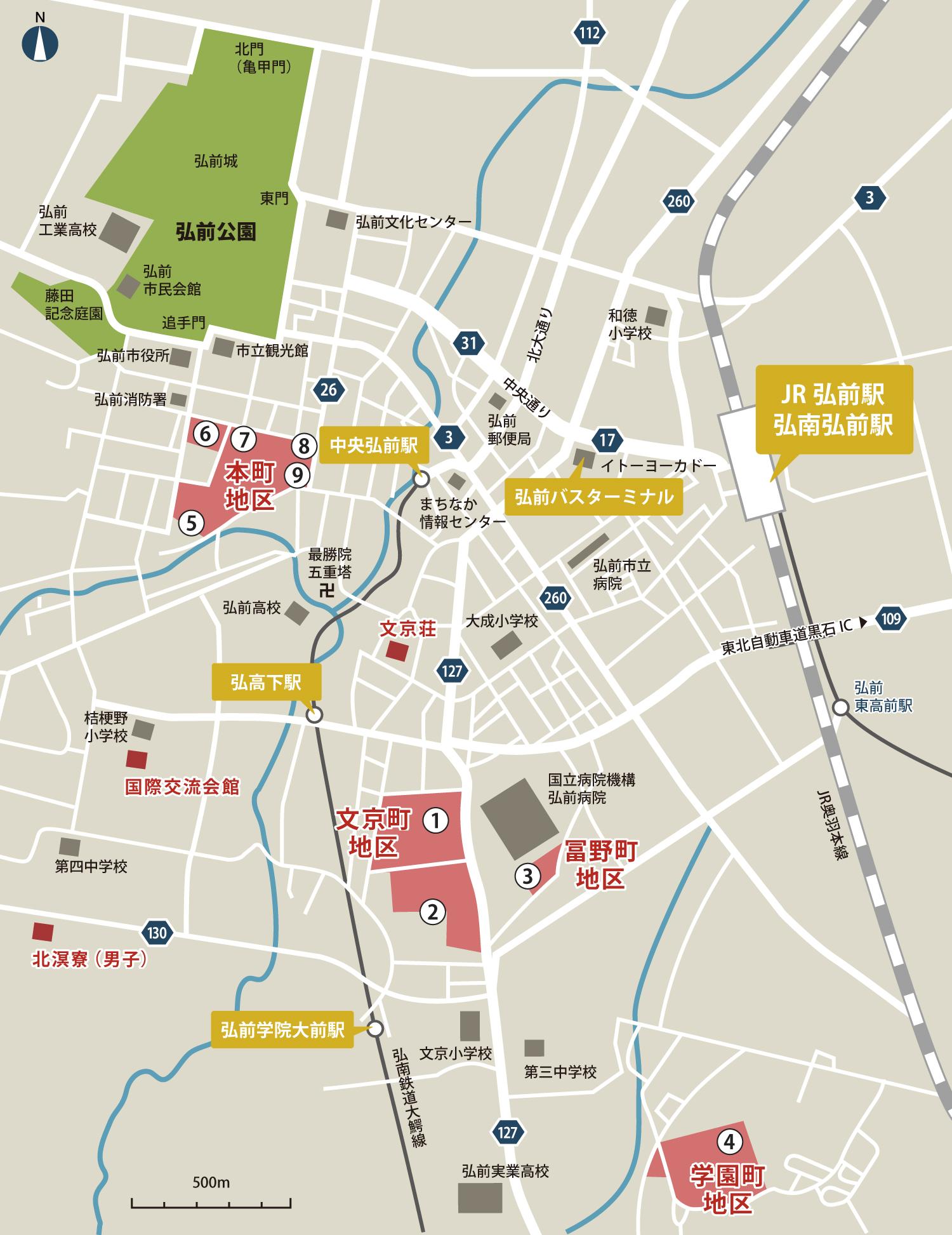 弘前大学キャンパスマップ