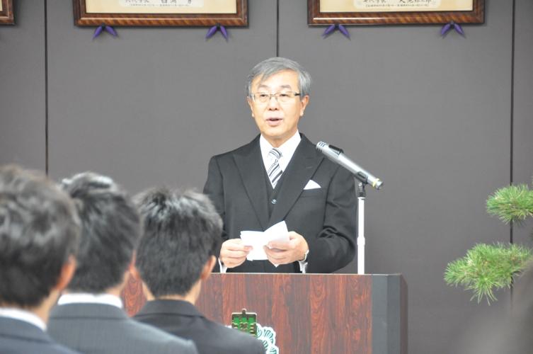平成26年度秋季入学式告辞(平成26年10月1日)