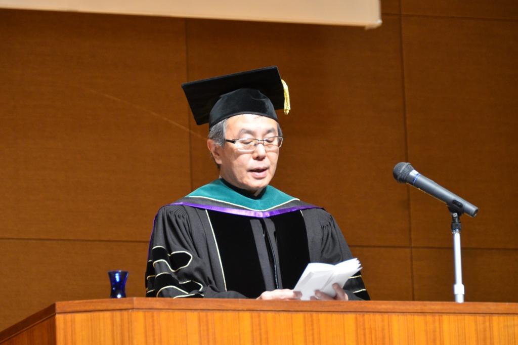 平成26年度大学院学位記授与式告辞(平成27年3月24日)