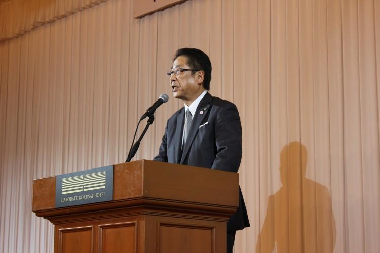工藤函館市長による来賓挨拶