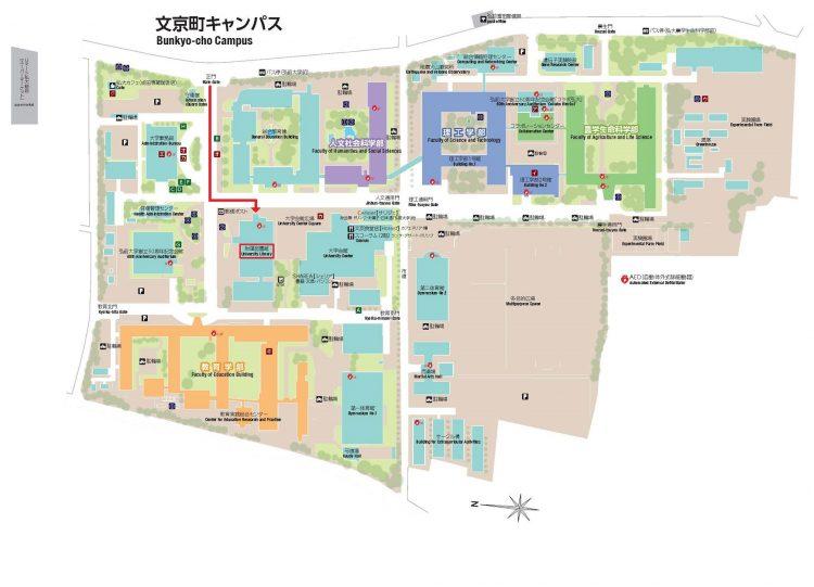 文京キャンパス案内図
