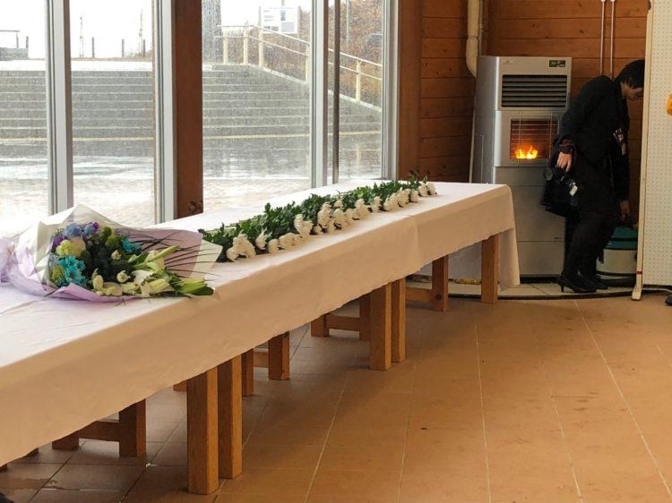 追悼のための献花