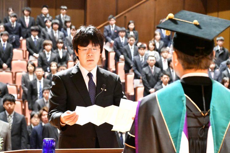 平成31年度大学院入学式学生宣誓