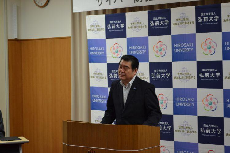 挨拶する石川 ボランティアセンター長