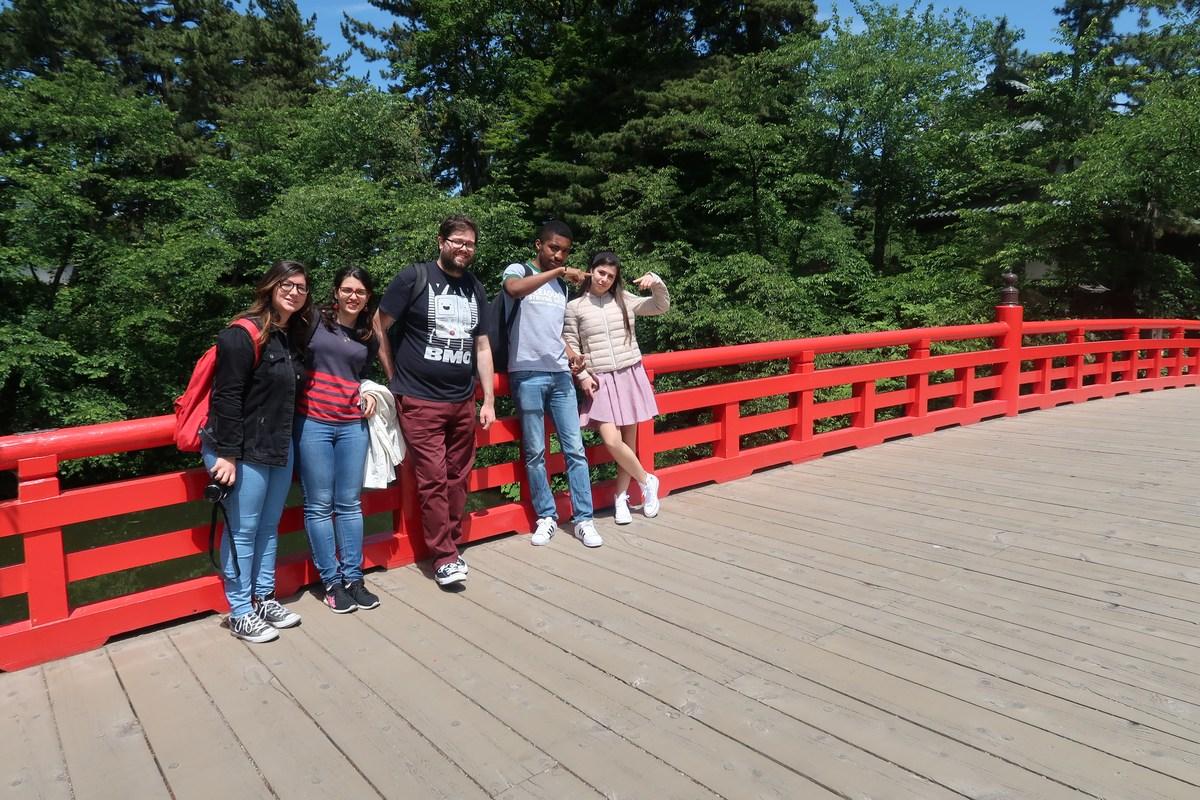 弘前公園にて