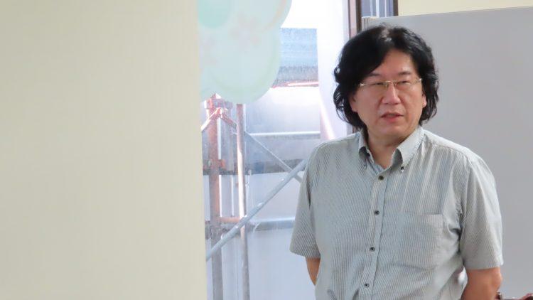 講演する熊田准教授