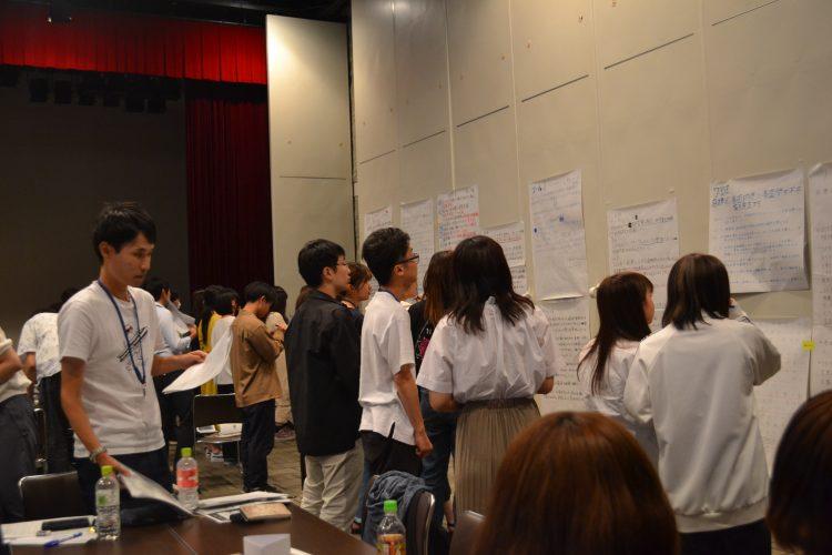 3日目:各班の持続可能なまちづくり案を掲示