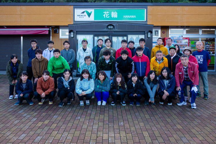 市民ボランティアと学生ボランティアの集合写真