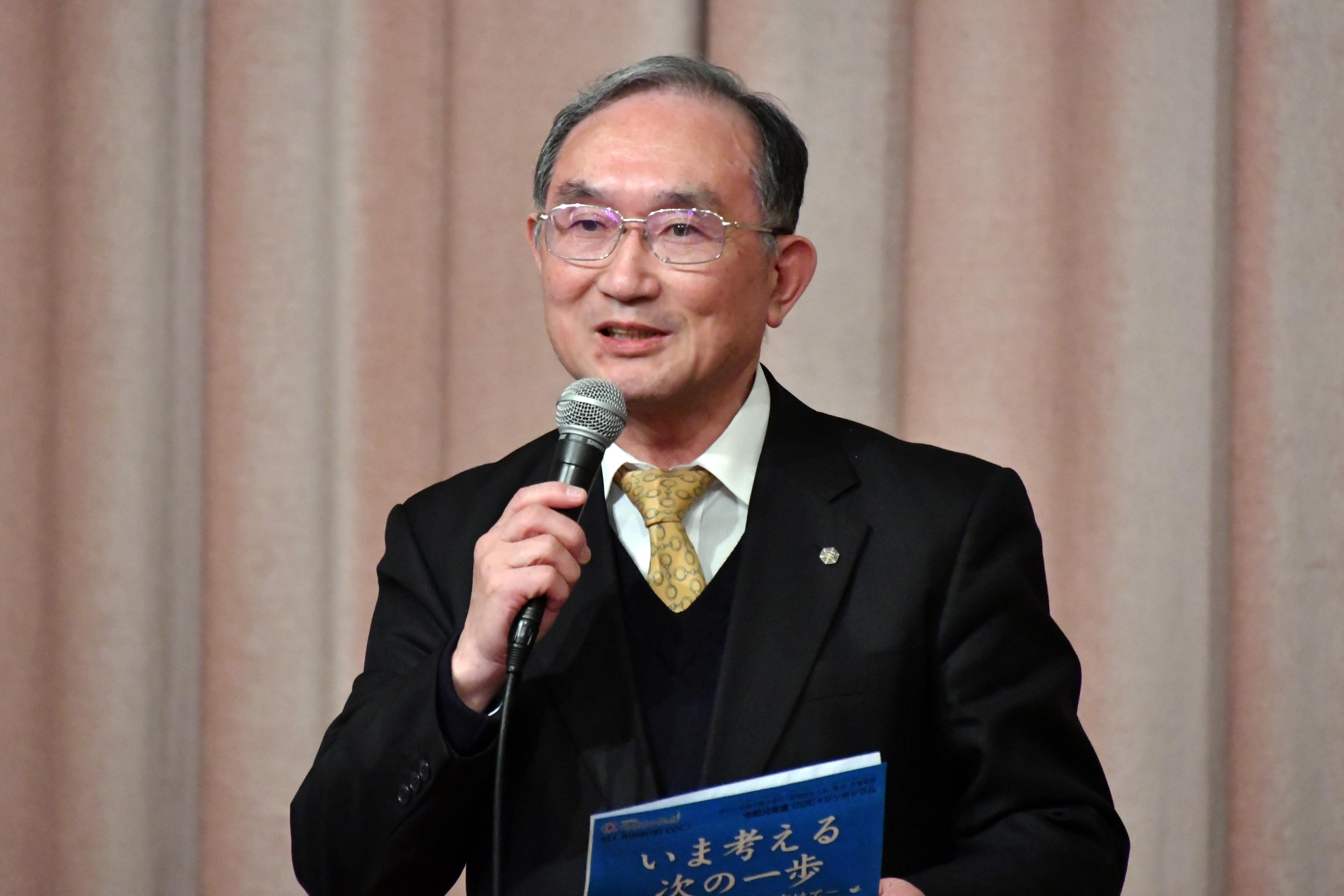 閉会の挨拶をする花田勝美副機構長