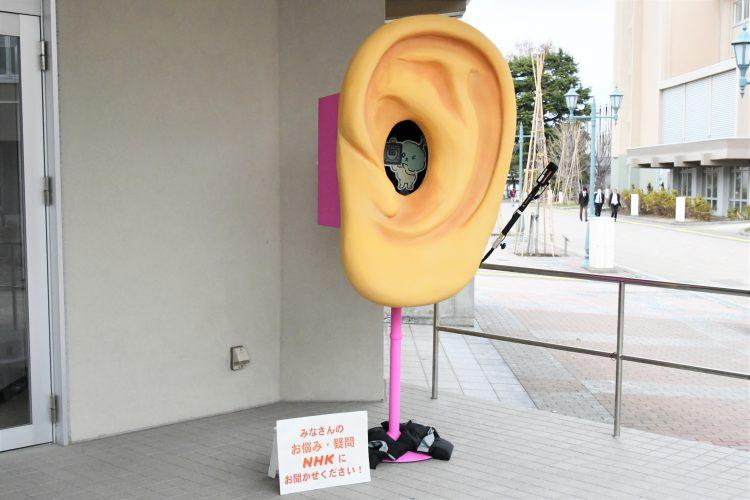 設置された耳